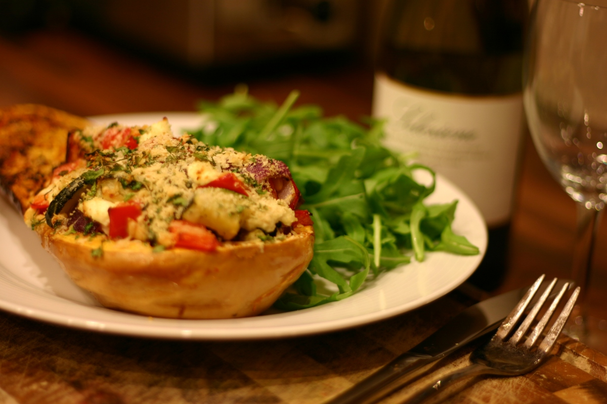 ... stuffed with roasted vegetables and goat's cheese | Eat Your Greens